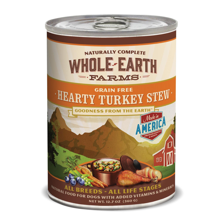 Whole Earth Farms Grain Free Hearty Turkey Stew Canned Dog Food