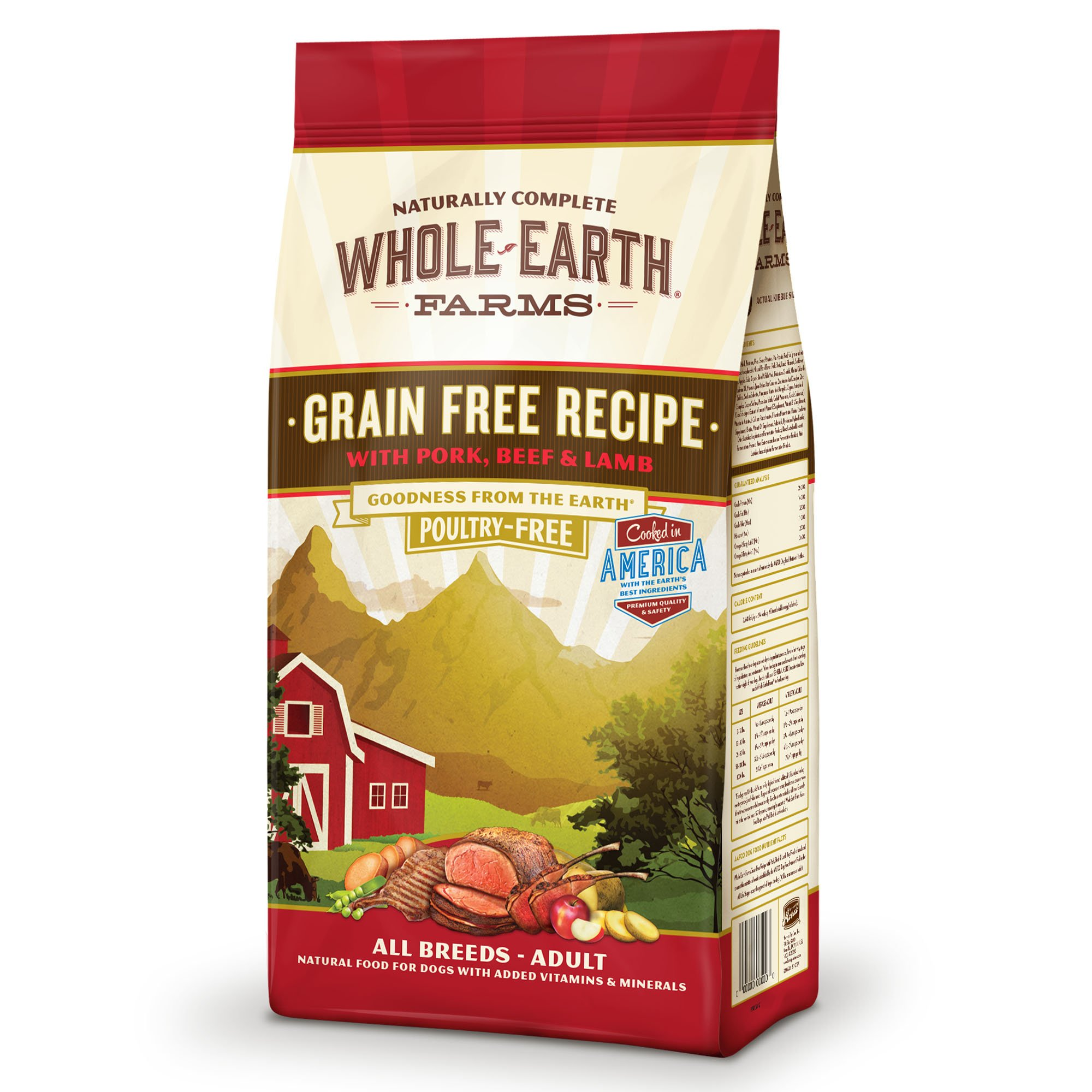 Whole Earth Farms Grain Free Beef & Lamb Dog Food