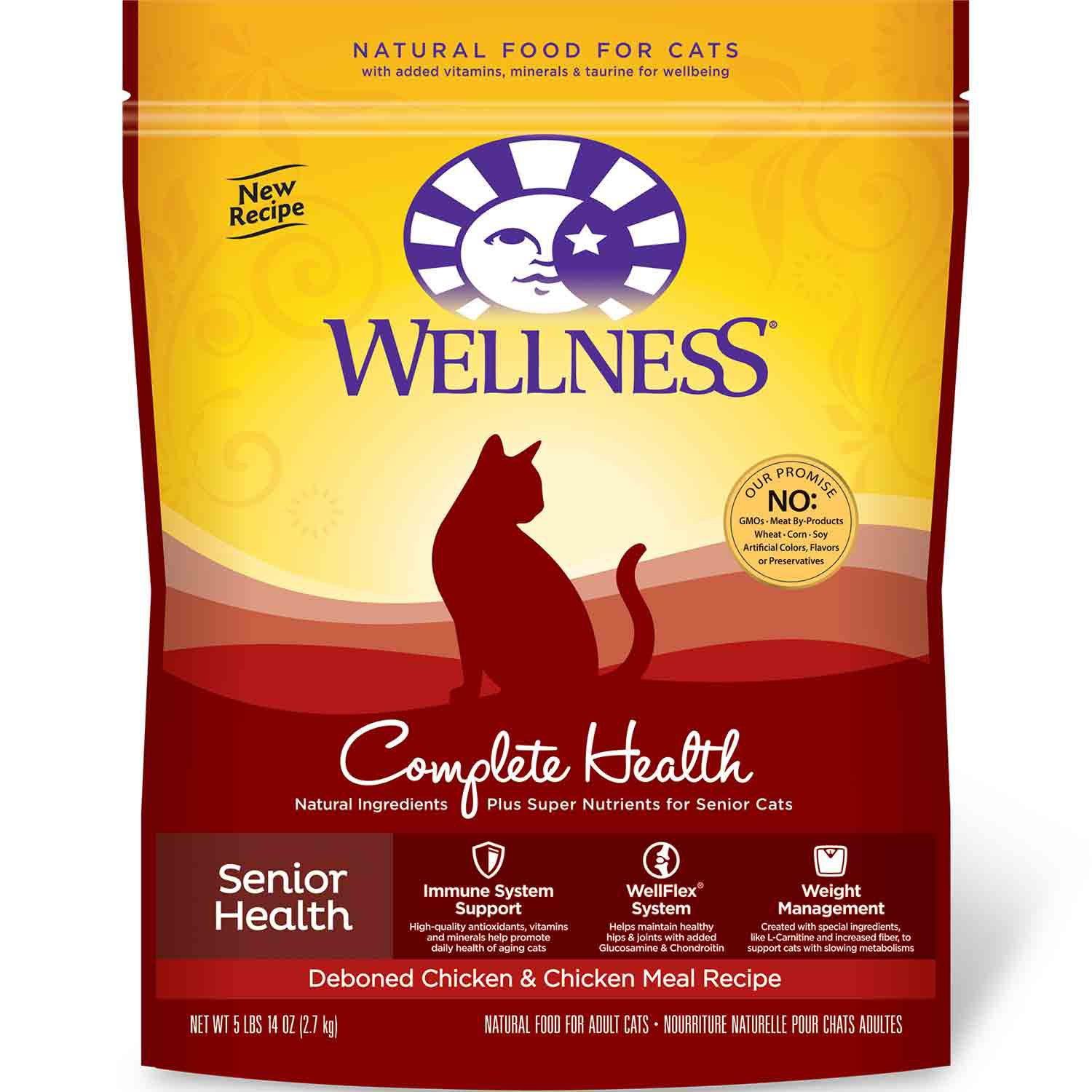 Wellness Complete Health Senior Health Deboned Chicken & Chicken Meal Cat Food