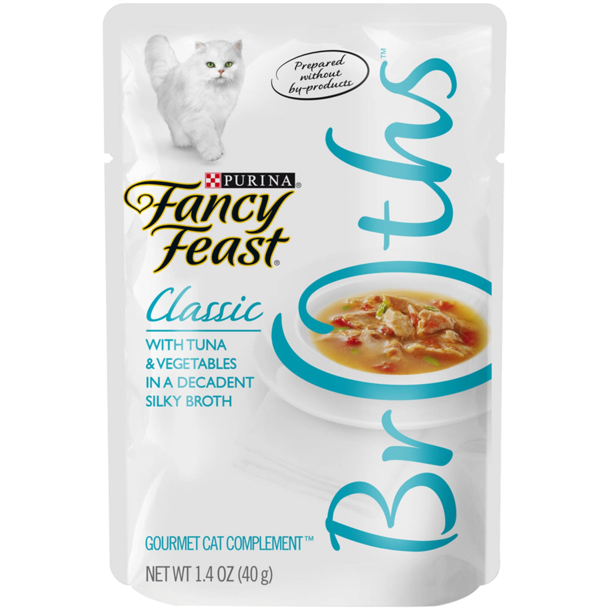 Fancy Feast Broths Classic Tuna & Vegetable Cat Food Complement