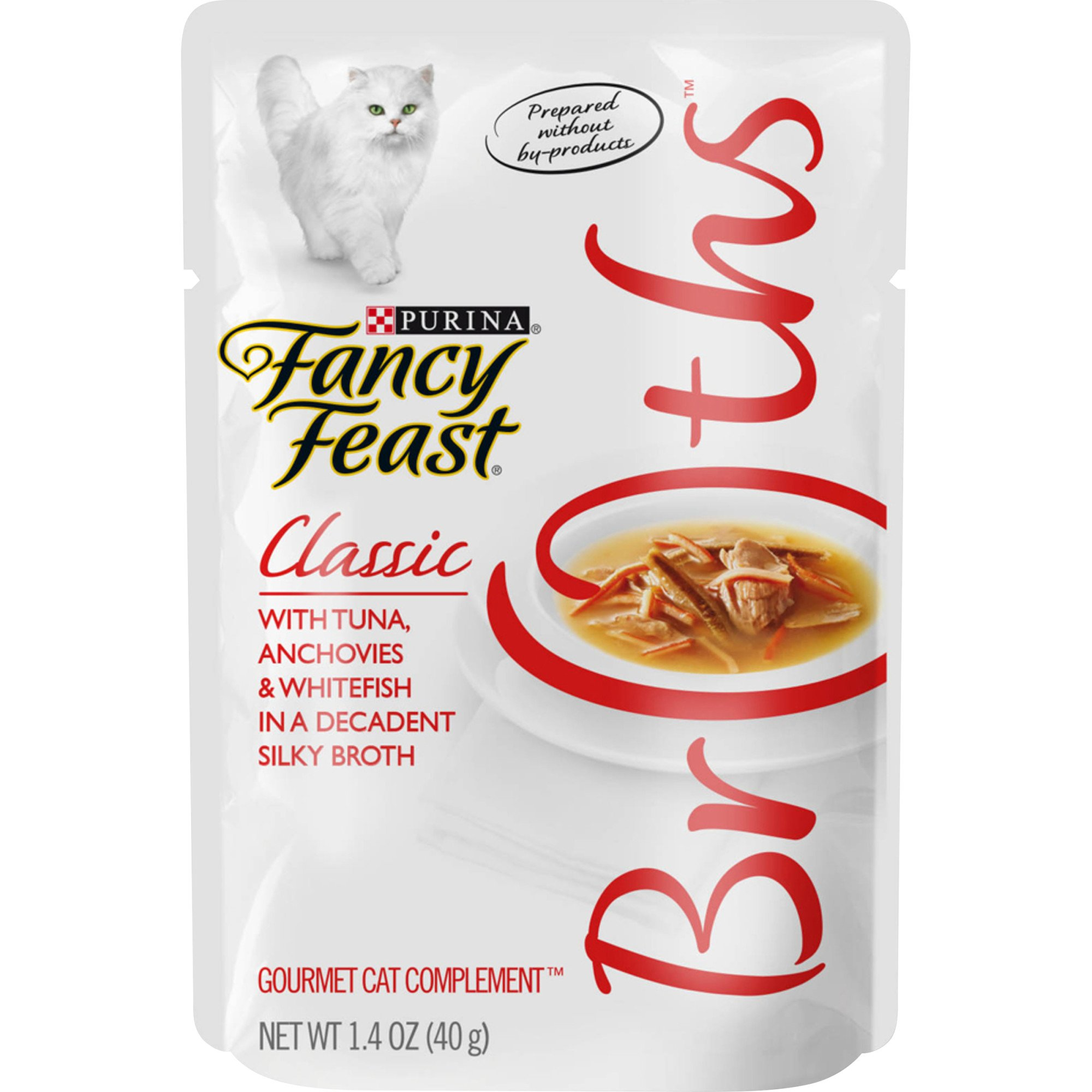 Fancy Feast Broths Tuna Anchovies And Whitefish Cat Food