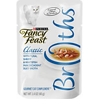 Fancy Feast Broths Classic Tuna, Shrimp & Whitefish Cat Food Complement