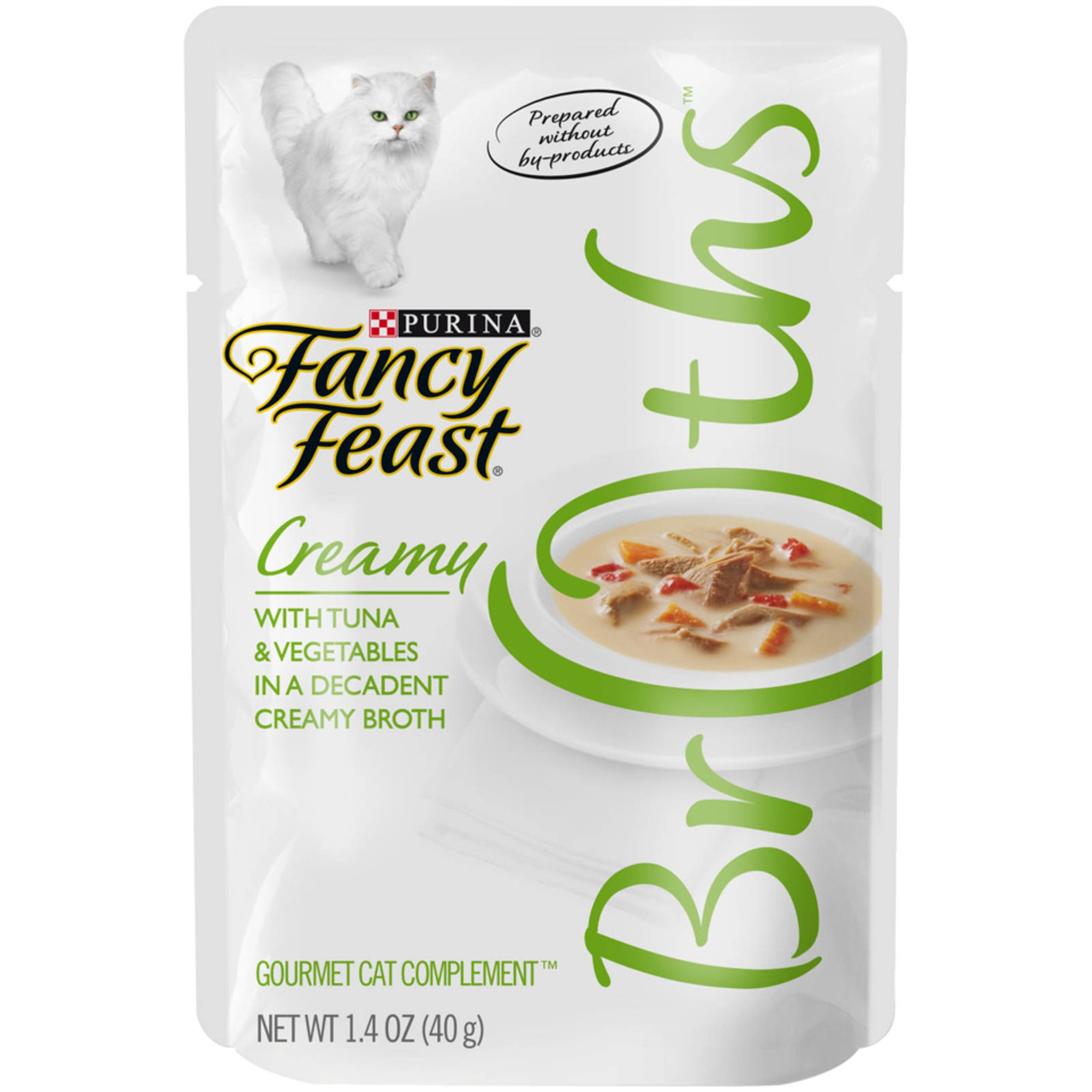 Fancy Feast Broths Creamy Tuna & Vegetables Cat Food Complement