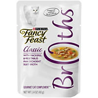 Fancy Feast Broths Classic Mackerel & Vegetables Cat Food Complement