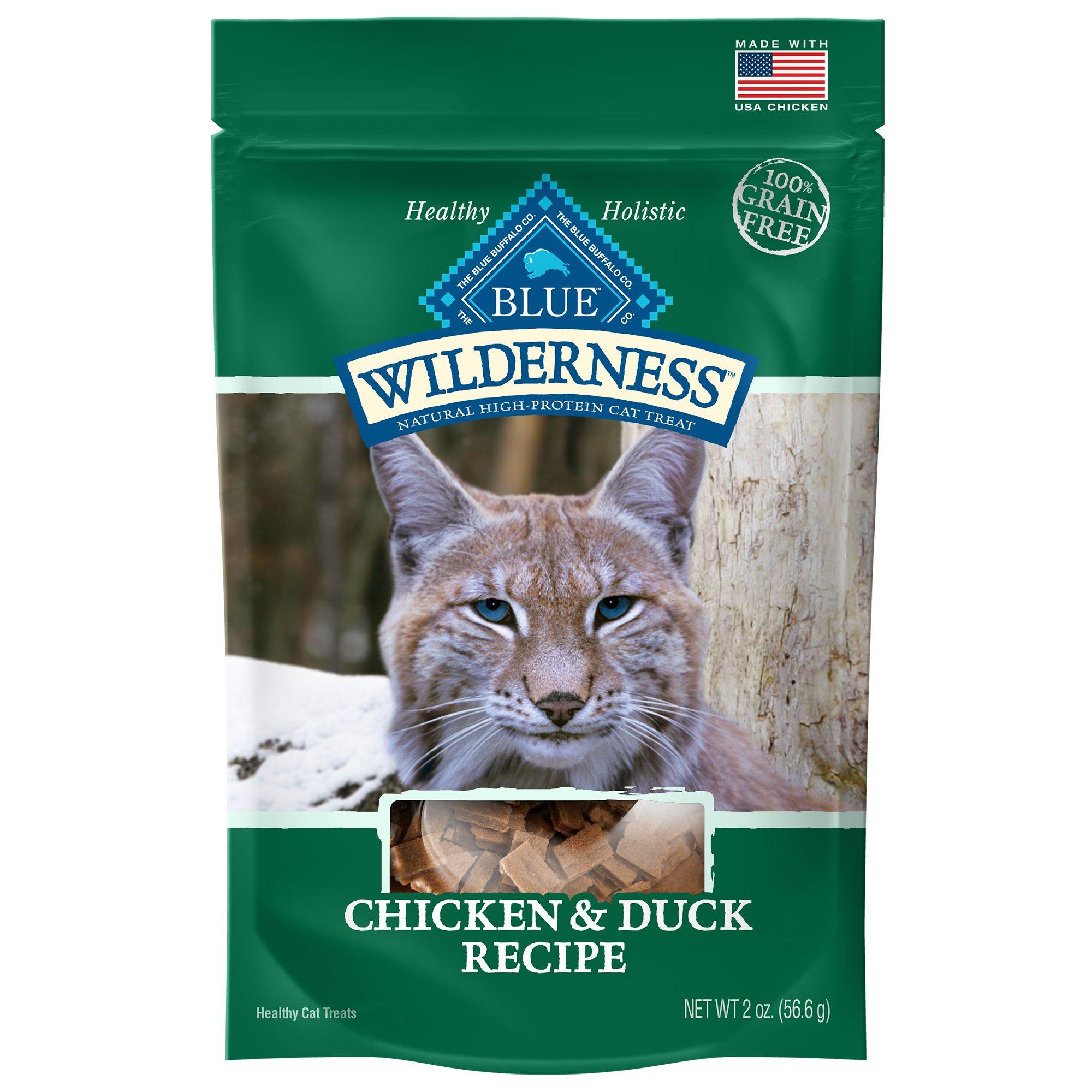 Blue Buffalo Wilderness Chicken & Duck Grain Free Cat Treats