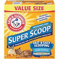Arm & Hammer Fragrance Free Super Scoop Clumping Cat Litter