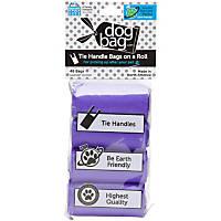 Doggie Walk Bags Purple Tie Handle Bags on a Roll