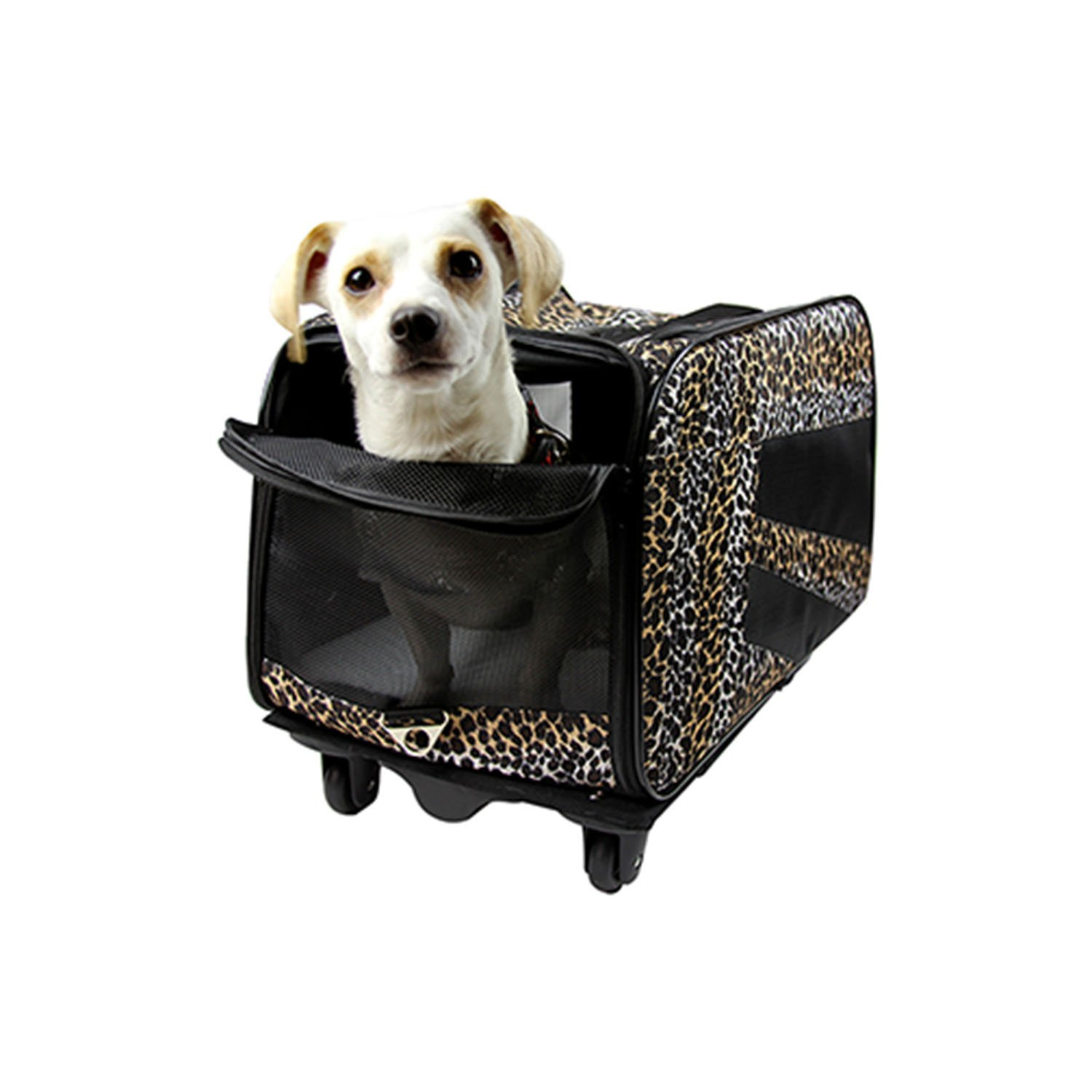 Smart Cart Leopard Print Dog Cart