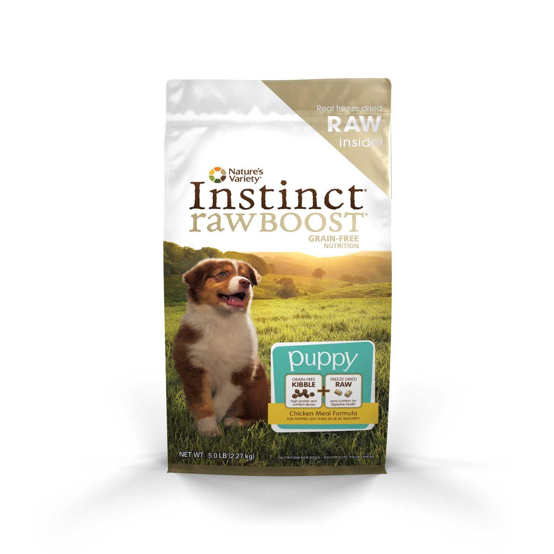 Nature's Variety Instinct Raw Boost Grain-Free Chicken Meal Puppy Food