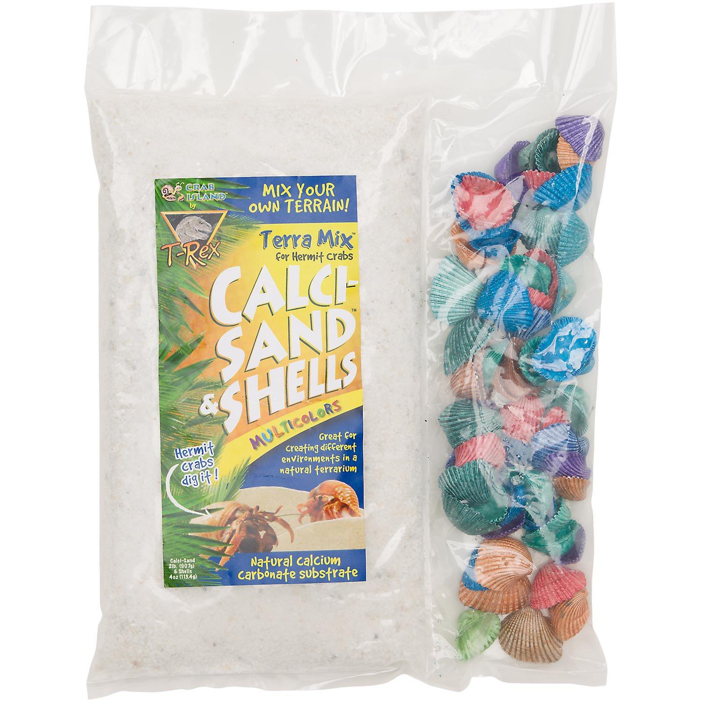 T-Rex Crab Island Terra Mix Hermit Crab Calci-Sand & Multi-Color Shells