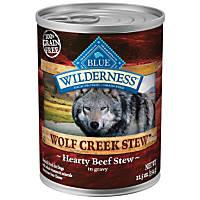 Blue Buffalo Wilderness Wolf Creek Stews Adult Canned Dog Food, Beef