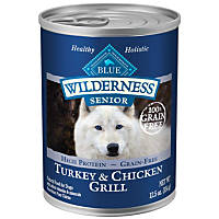 Blue Buffalo Wilderness Turkey & Chicken Senior Canned Dog Food