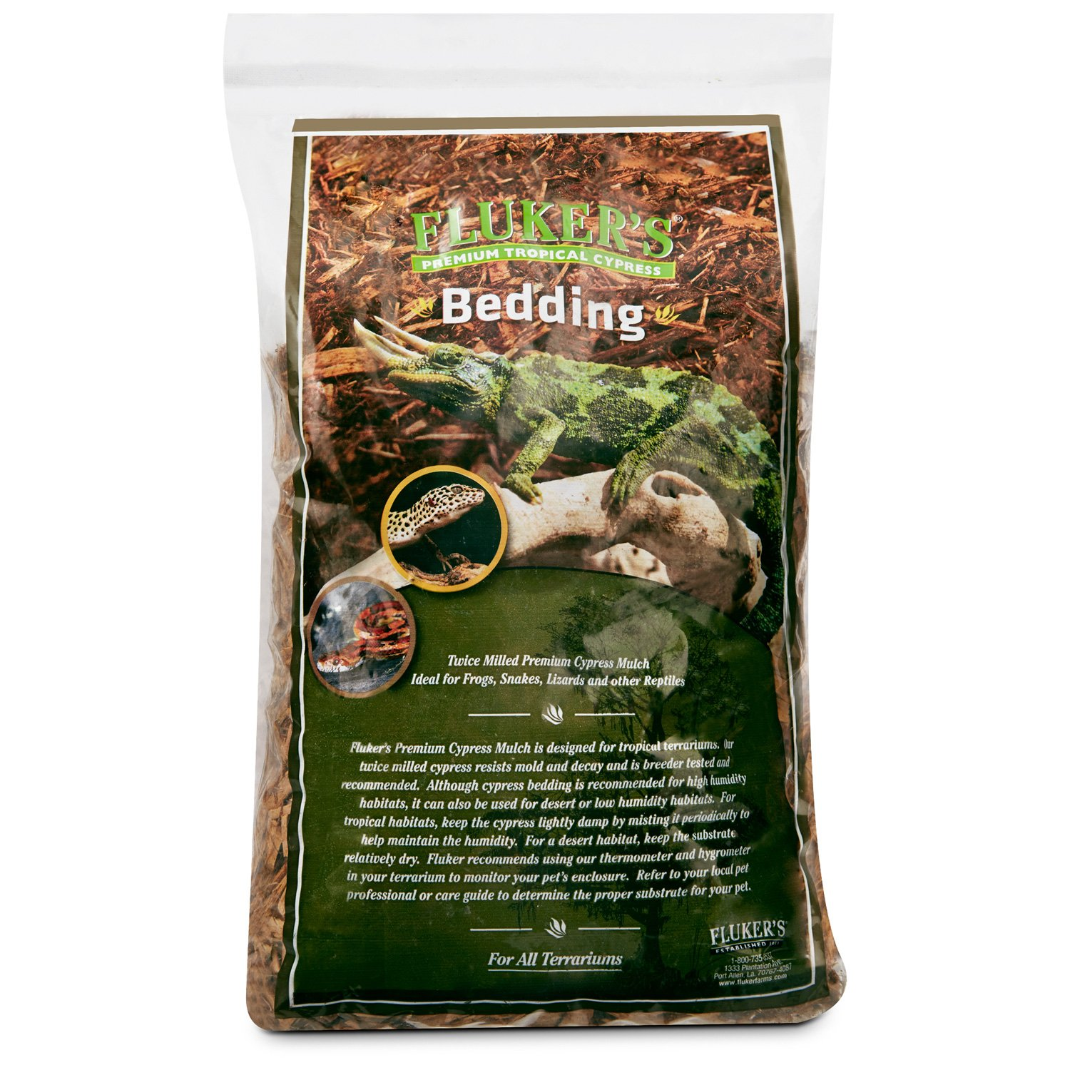 Fluker's Tropical Cypress Bedding Reptile Substrate