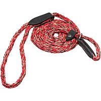 Hamilton London Quick Red Braid Dog Collar & Leash Combo