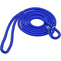 Hamilton Round Quick Blue Braid Dog Collar & Leash Combo