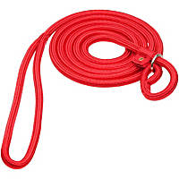 Hamilton Round Quick Red Braid Dog Collar & Leash Combo