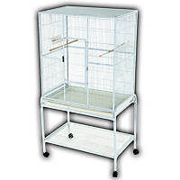 A&E Cage Company Flight Bird Cage in Platinum