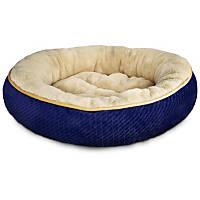 Petco Textured Round Cat Bed in Blue