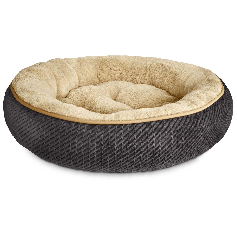 Petco Textured Round Cat Bed in Grey