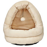 Petco Hooded Cat Bed in Cream