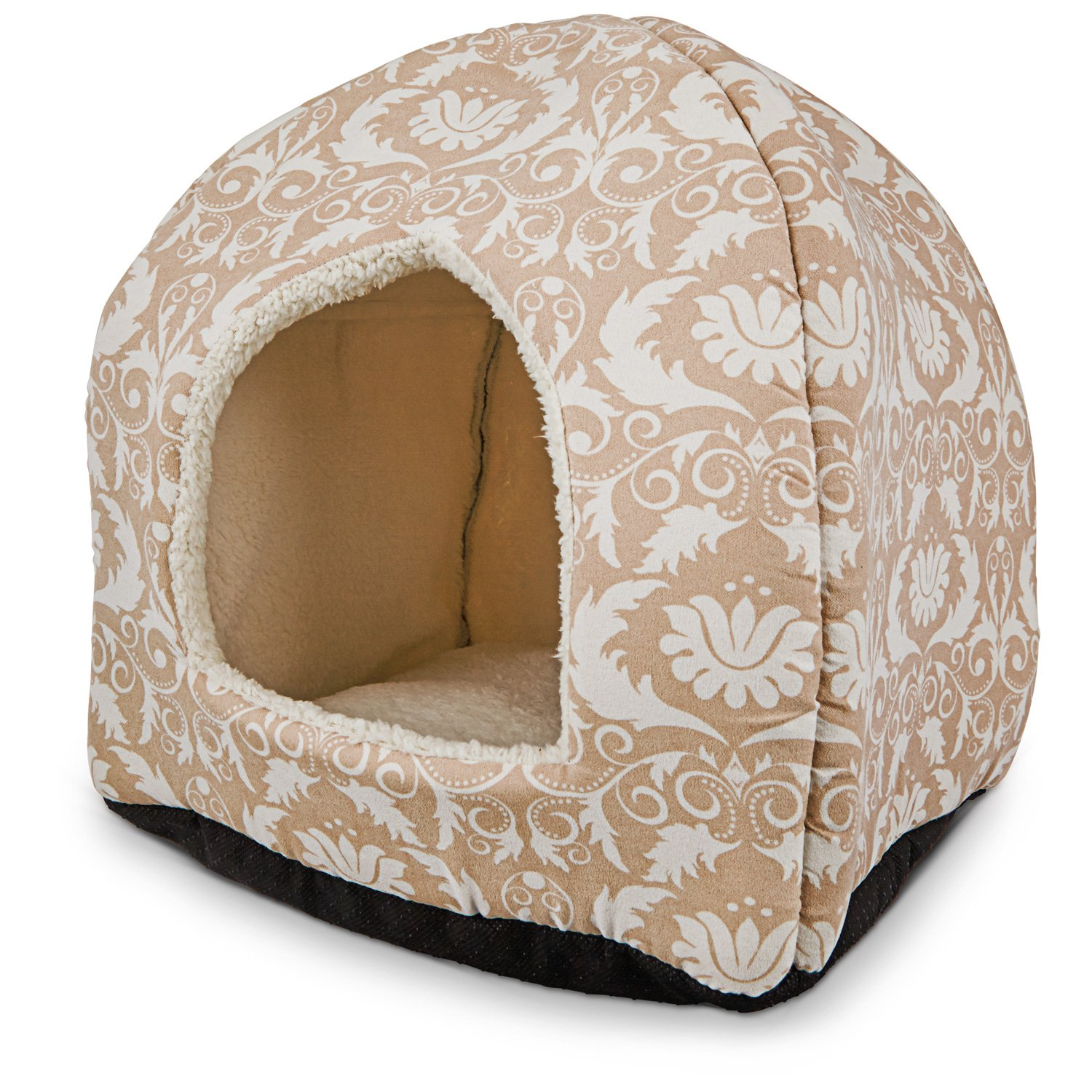 Petco Restful Snuggler Pyramid Cat Bed in Brown