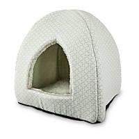 Petco Restful Snuggler Pyramid Cat Bed in Green