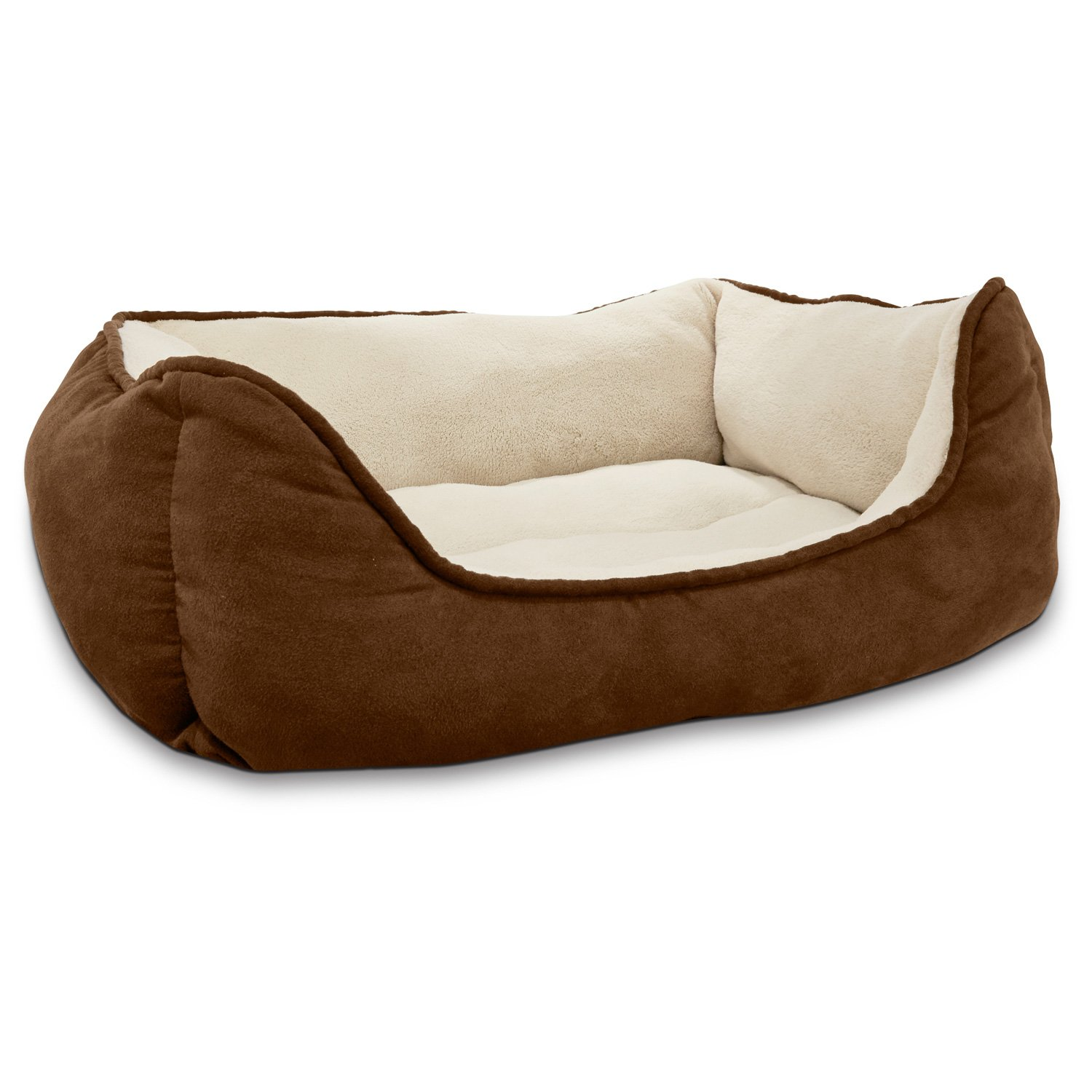 Petco Box Dog Bed in Brown