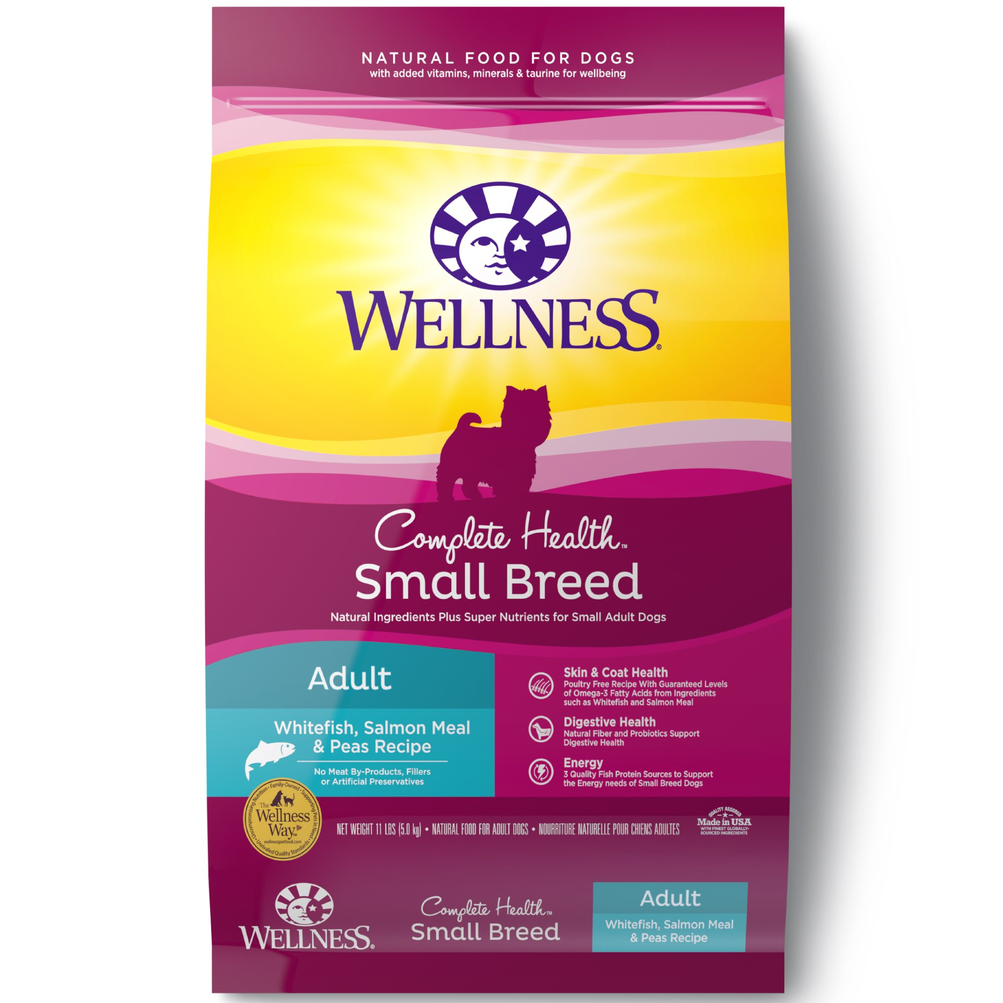 Wellness Small Breed Complete Health Whitefish, Salmon & Peas Adult Dog Food