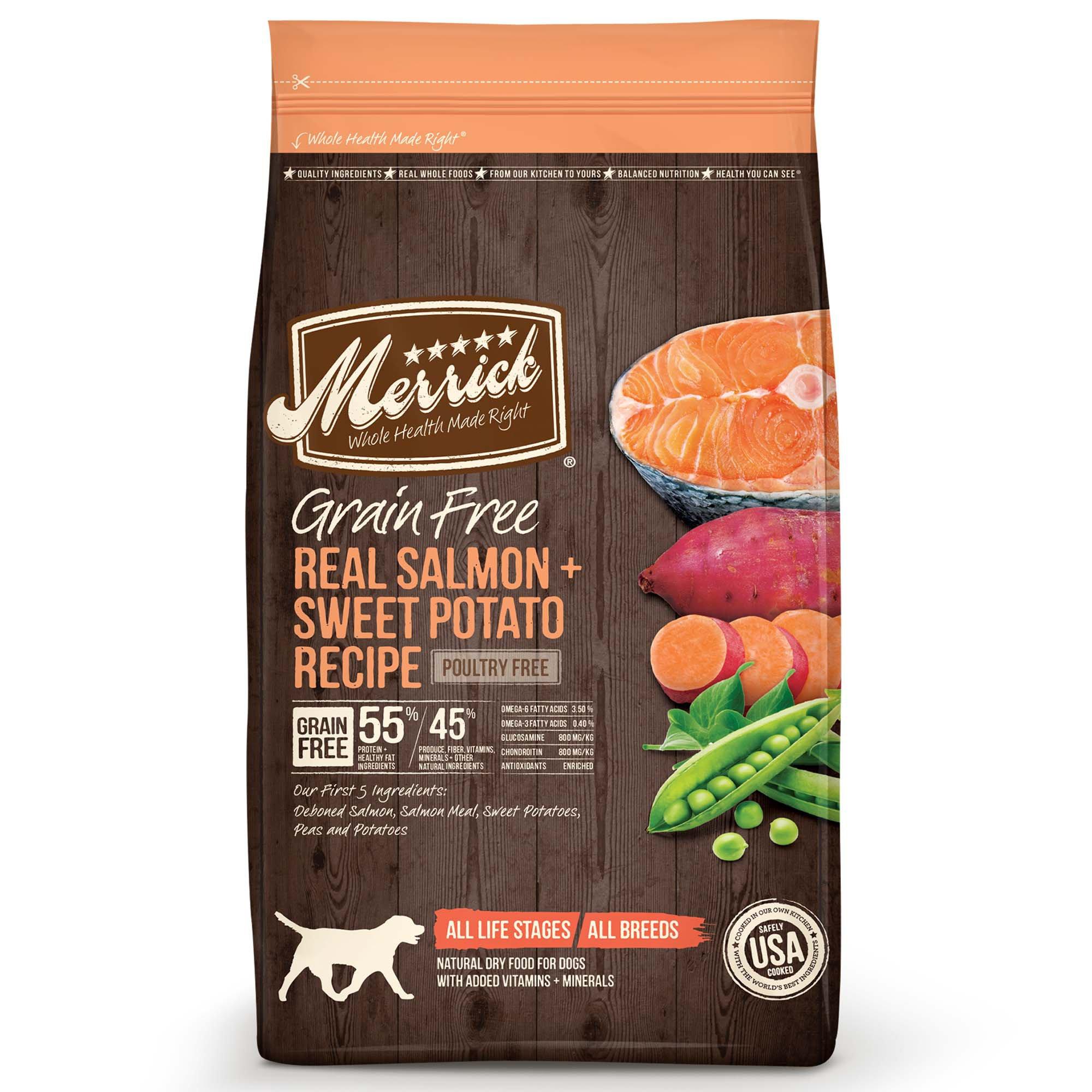 Merrick Grain Free Real Salmon & Sweet Potato Adult Dog Food