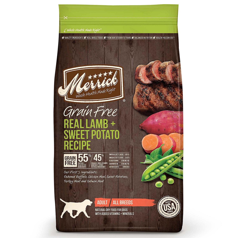 Merrick Grain Free Real Lamb & Sweet Potato Adult Dog Food,