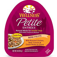 Wellness Petite Entrees Mini-Filets Roasted Chicken, Beef, Carrots & Green Beans in Gravy Dog Food