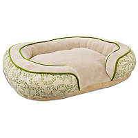 Petco Tranquil Cuddler Dog Bed with Vine Pattern