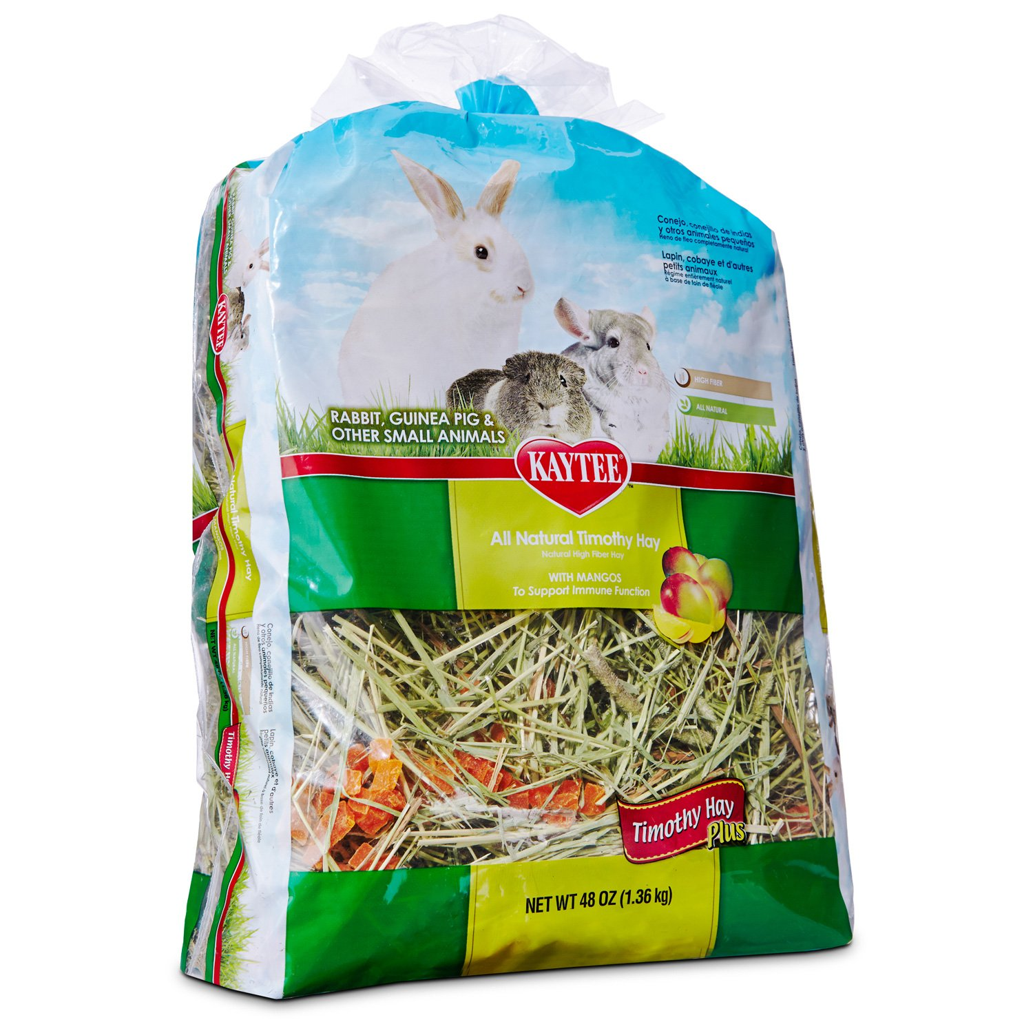 Kaytee All Natural Timothy Hay with Mango for Rabbits & Small Animals