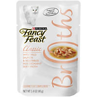 Fancy Feast Broths Classic Cat Food Complements, Salmon & Vegetable
