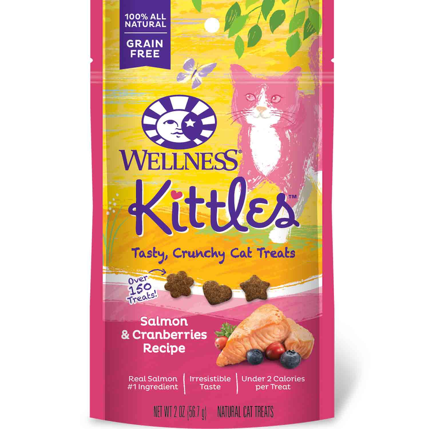 Wellness Kittles Salmon & Cranberry Cat Treats