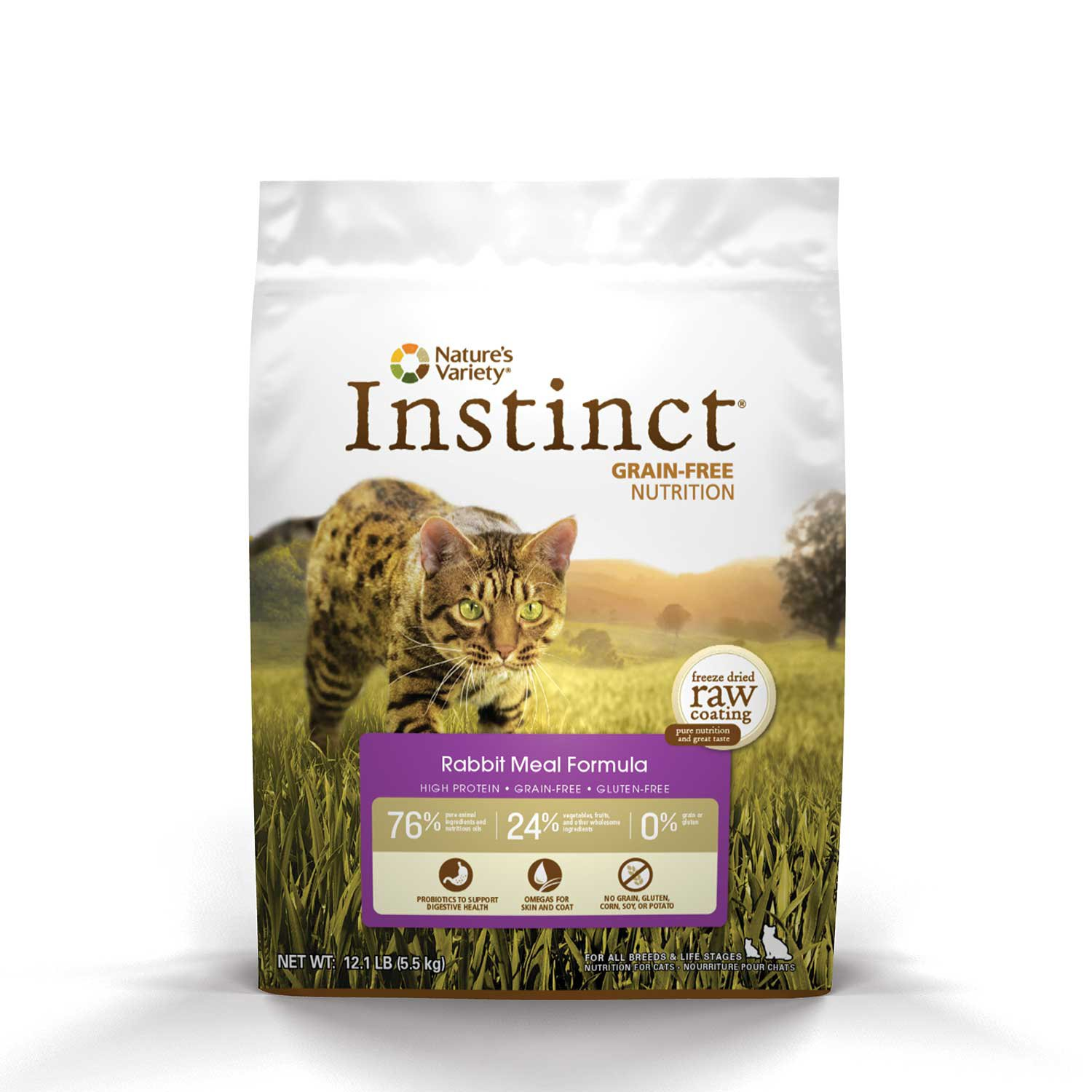 Nature's Variety Instinct Grain-Free Rabbit Meal Cat Food