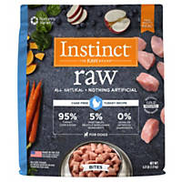 Nature's Variety Instinct Raw Turkey Bites Frozen Dog Food