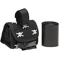 Doggie Walk Bags Designer Bags on a Roll Black Skull Print Bag Dispenser