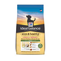 Hill's Ideal Balance Slim & Healthy Chicken & Barley Small Breed Adult Dog Food
