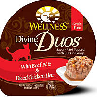 Wellness Divine Duos With Beef Pate & Diced Chicken Liver Wet Cat Food