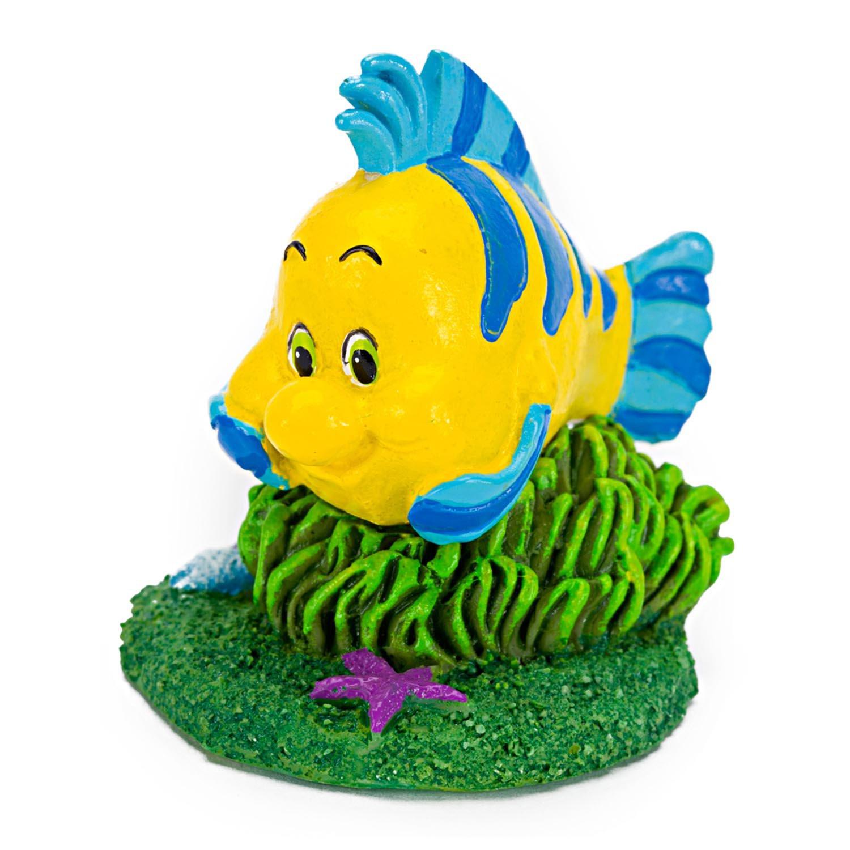 Penn Plax The Little Mermaid Flounder Aquarium Ornament