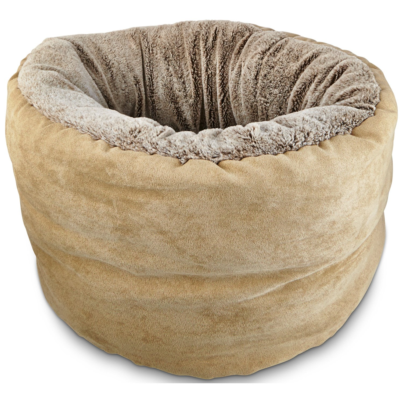 Petco Deep Restful Cuddler Cat Bed in Brown