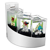 Aqueon Betta Falls Aquarium Kit in White