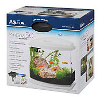 Aqueon MiniBow LED Desktop Fish Aquarium Kit in White