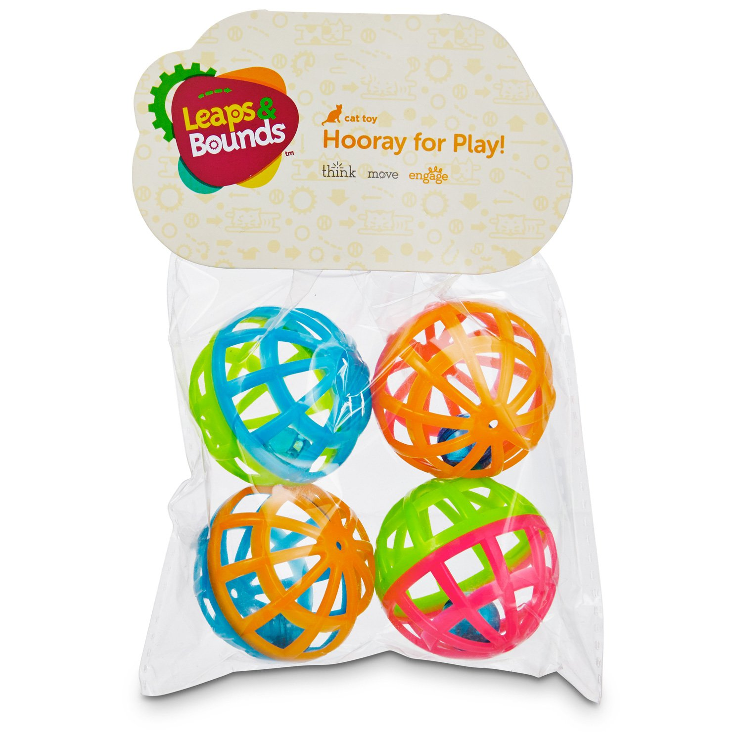 Leaps & Bounds Lattice Ball Cat Toys
