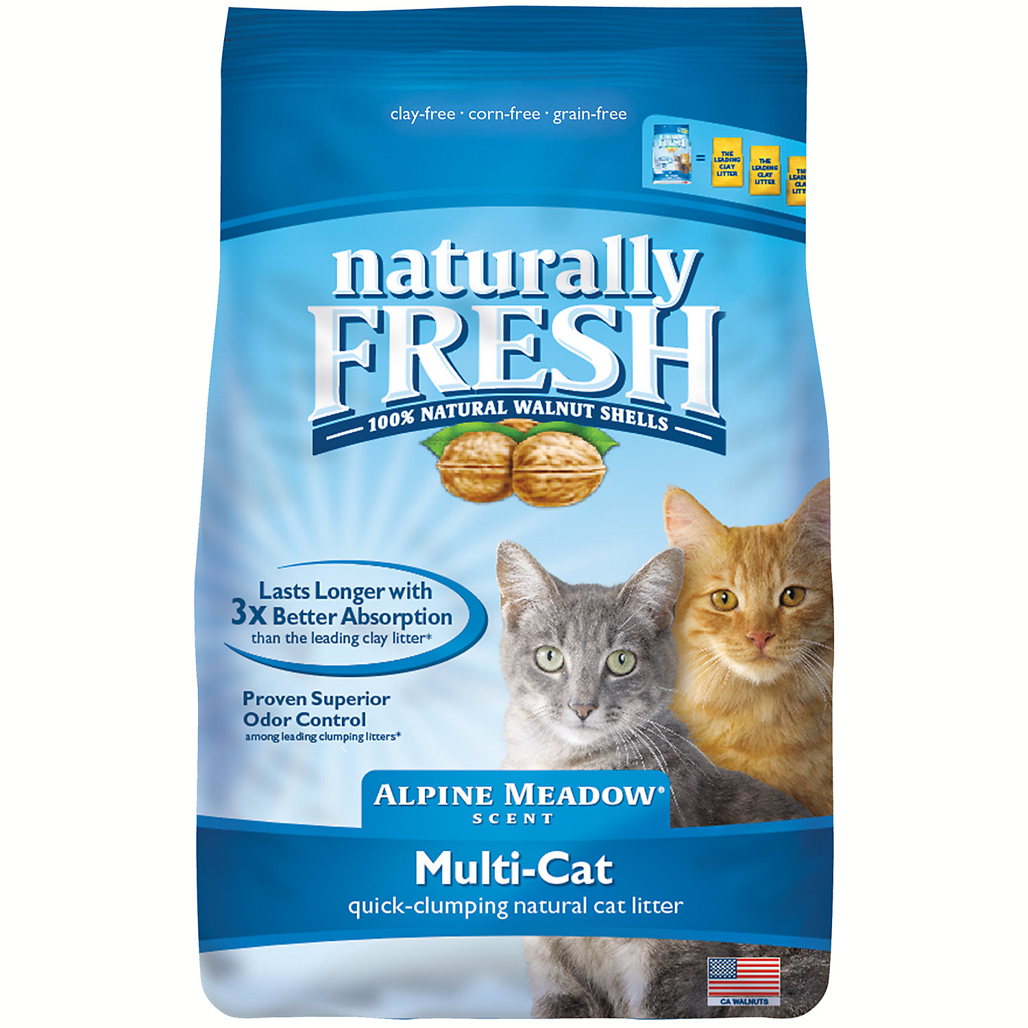 Blue Naturally Fresh Alpine Meadow Scent Multi-Cat Litter, 1