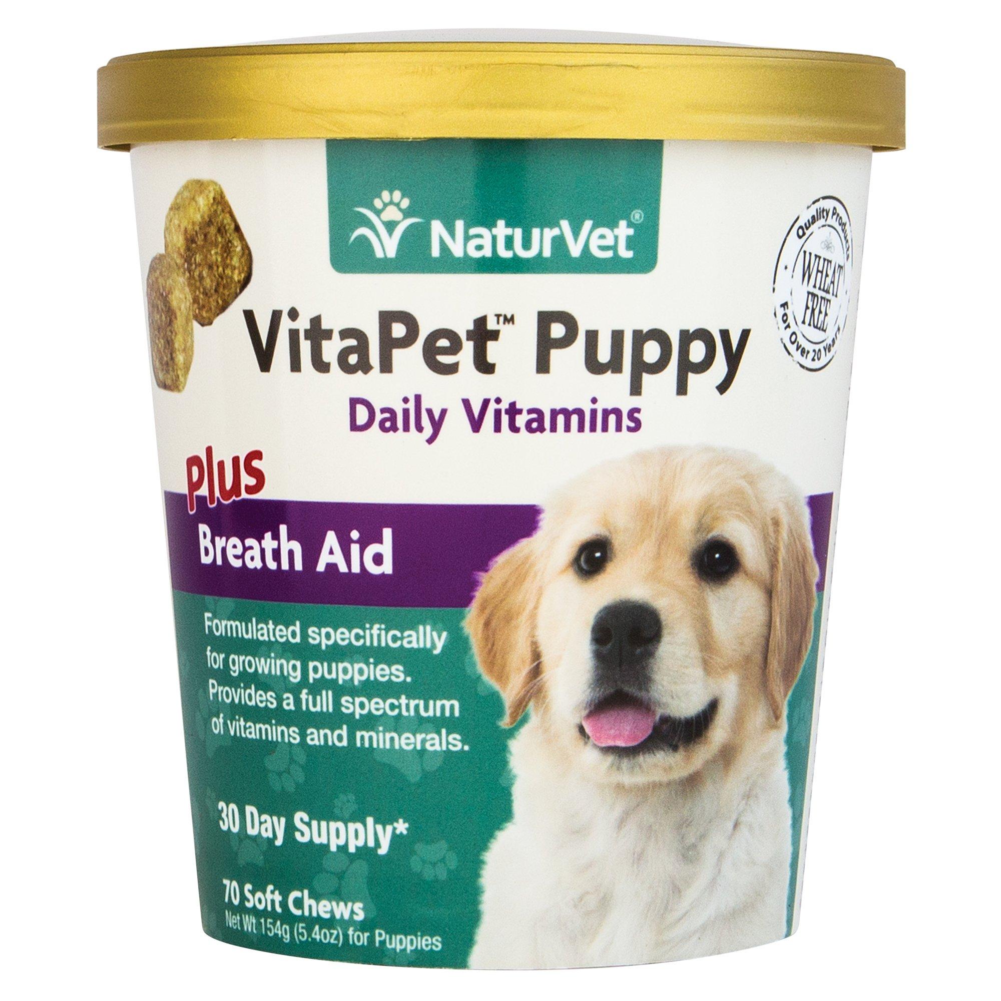 NaturVet VitaPet Breath Aid Puppy Soft Chews