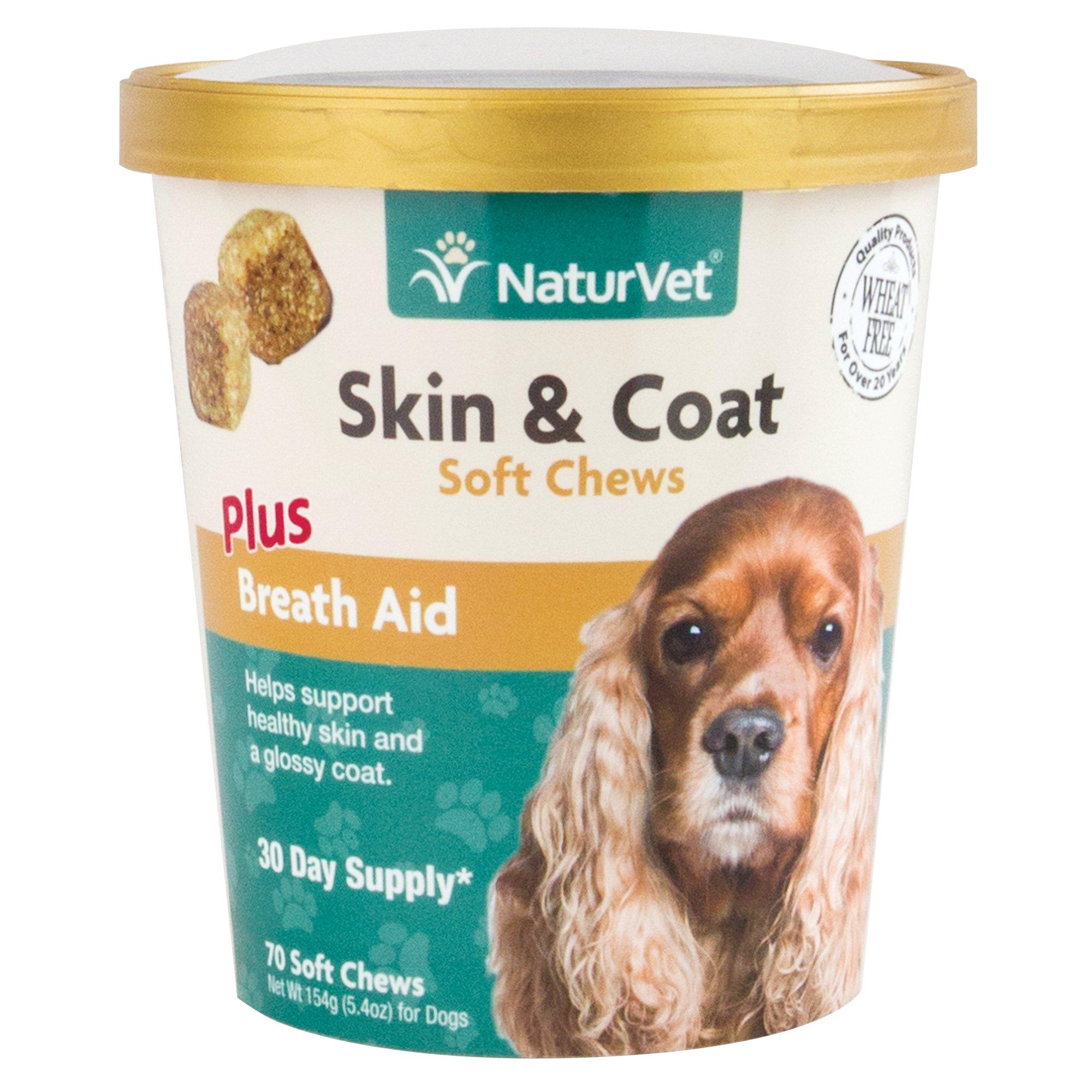 NaturVet Skin & Coat Plus Breath Aid Dog Soft Chews