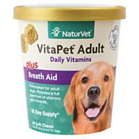 NaturVet VitaPet Breath Aid Adult Dog Soft Chews