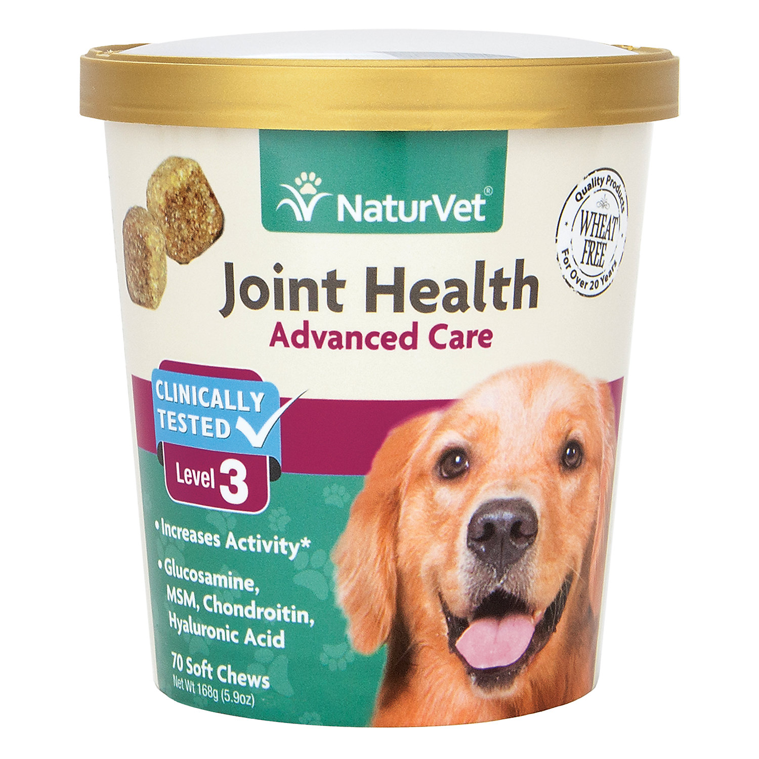 NaturVet Joint Health Advanced Care Dog Soft Chews, Pack of